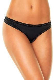 Calcinha Calvin Klein Underwear Tanga Brand Preta