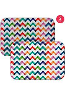 Jogo Americano Love Decor Colorful Abstract Colorido