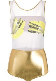 Brigitte Body Banana De Carnaval - Dourado