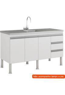Balcão De Cozinha Ibiza 3 Pt 3 Gv Branco