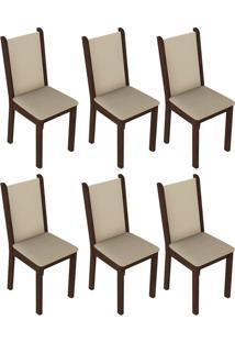 Kit 6 Cadeiras Em Mdf E Mdp Madesa