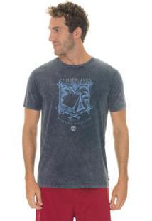 Camiseta Timberland Timberland Camping Masculina - Masculino-Cinza