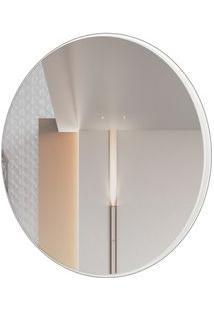Espelho Redondo Lunes Pequeno Cor Off White Brilho 30 Cm (Diam) - 56532 - Sun House