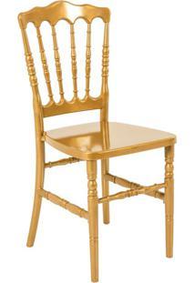 Cadeira De Jantar Dior Resina Dourada
