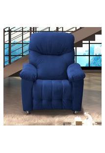 Poltrona Reclinável Matrix Mx 38 Virtus Veludo Azul