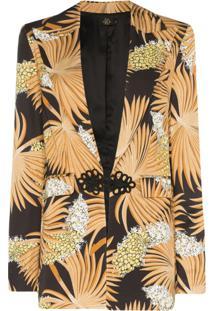 De La Vali Blazer Dean Estampado - 012 Black Palm