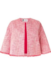 Lanvin Jaqueta Cropped De Tweed - Vermelho