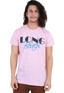 Camiseta Los Fuckers Long Beach Rosa - Masculino
