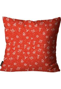 Capa Para Almofada Mdecore Natal Sino De Natal Vermelha 45X45Cm