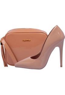 Kit Bolsa + Scarpin Factor Fashion Salto Alto - - Tricae
