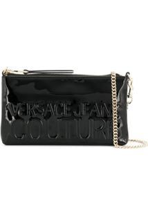 Versace Jeans Couture Bolsa Transversal Envernizada - Preto