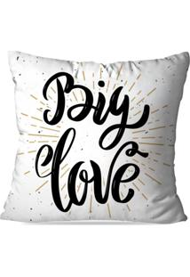 Capa De Almofada Avulsa Decorativa Big Love 35X35Cm