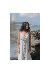Vestido Coletivo Des Midi Areia