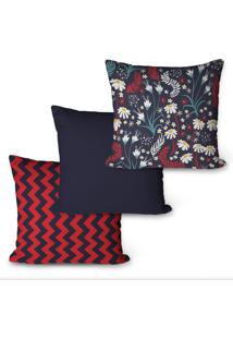 Kit Com 3 Capas Para Almofadas Decorativas Geomã©Tricas 45X45Cm - Multicolorido - Dafiti