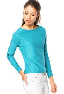 Blusa Fiveblu Verde feminina  aaf74a27607b2