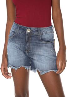 Bermuda Jeans Colcci Reta Carol Azul