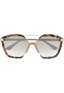 ... Jimmy Choo Leon Snake Print Wrap Sunglasses - Marrom d2864137f5