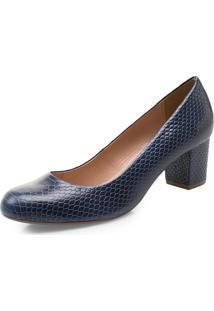Sapato Scarpin Corello Azul Marinho
