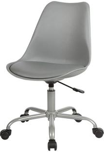 Cadeira Saarinen Com Rodizios Pp Cinza Base Aco - 38197 - Sun House