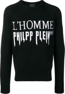 Philipp Plein Suéter Com Padronagem L'Homme Philipp Plein - Preto
