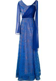 Lethicia Bronstein Vestido Longo Em Renda - Azul
