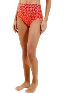 Calcinha Rosa Chá Audrey Fancy Stars Beachwear Estampado Feminina (Fancy Stars, G)