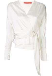 Manning Cartell Blusa Com Transpasse - Branco