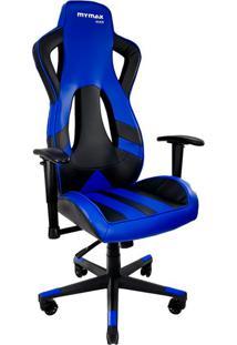 Cadeira Gamer Mx Eleven Azul E Preta