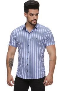 Camisa Zaiko Black Friday Listrada Azul Mc
