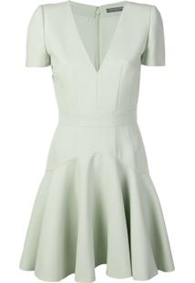 ... Alexander Mcqueen Short Skater Dress - Green 68e6b7057056