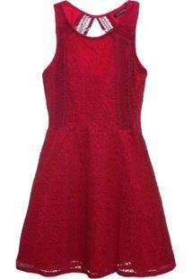Vestido Renda - Authoria - Feminino-Vermelho
