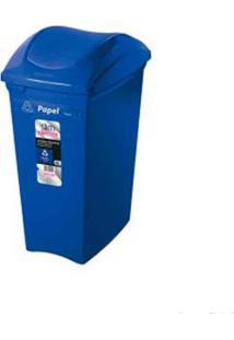 Lixeira Seletiva 40 Litros Azul Sanremo