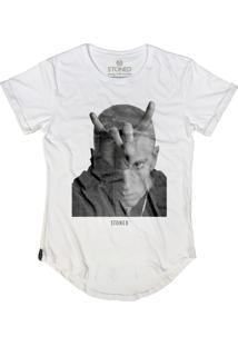 Camiseta Stoned Longline Eminem Branco