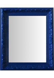 Espelho Moldura Rococó Raso 16396 Azul Art Shop