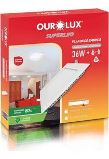 Plafon Quadrado Embutir Branco (6400 K 36W)