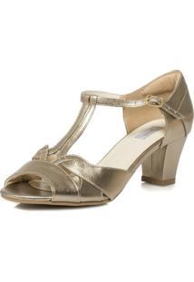 Sandália Durval Calçados Vintage Pelica Salto Confortável - Mv3607 Prata Velho