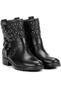 Bota Biker Shoestock Matelassê Feminina - Feminino