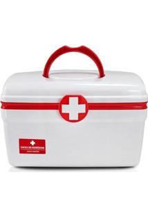 Caixa Organizadores De Remédios De Plástico Grande - Unissex-Vermelho