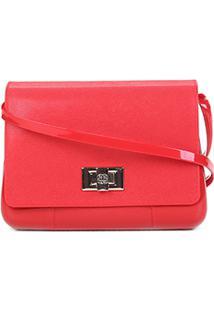 Bolsa Petite Jolie Mini Bag Verniz One Feminina - Feminino-Vermelho