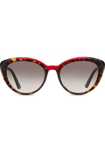 Prada Eyewear Cat-Eye Shaped Sunglasses - Marrom