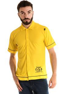 Camisa Konciny Manga Curta Amarelo