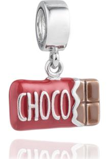 Pingente Life Barra De Chocolate