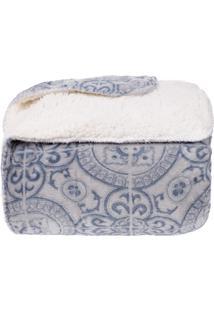 Cobertor Casal Sherpa Pele De Carneiro E Plush Dupla Face - Tuile