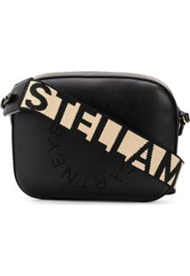 Stella Mccartney Logo Strap Shoulder Bag - Preto