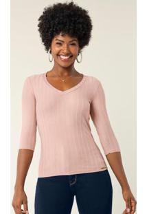 Blusa Kit Presente Com Caixa E Colar Rosa