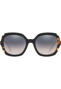 Prada Eyewear Óculos De Sol Quadrado - Preto