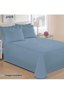 Jogo De Cama Reffinata Queen Size- Azul- 4Pçs- 2Buettner