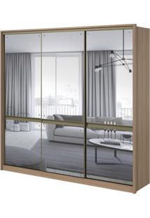 Guarda-Roupa Urban Com Espelho - 3 Portas - 100% Mdf - Carvalho Naturale