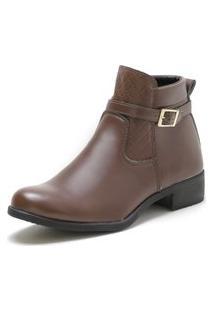 Bota Feminina Cano Curto Over Boots City Marrom
