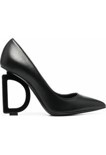 Dolce & Gabbana Scarpin Com Logo Dg - Preto